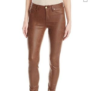 7 for all mankind warm brown skinny jeans